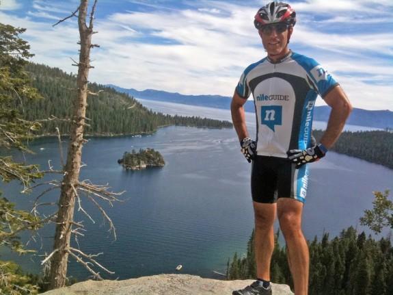 Josh Steinitz, CEO, NileGuide - above Emerald Bay