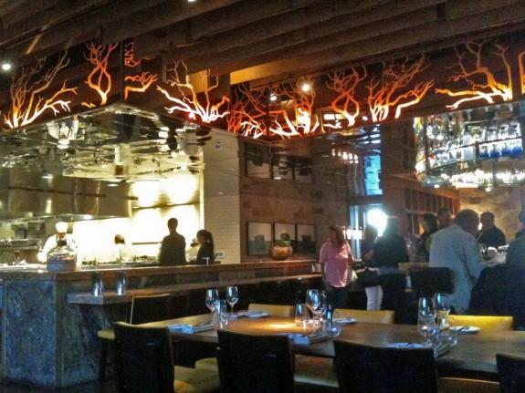 Dinner scene at Manzanita restaurant