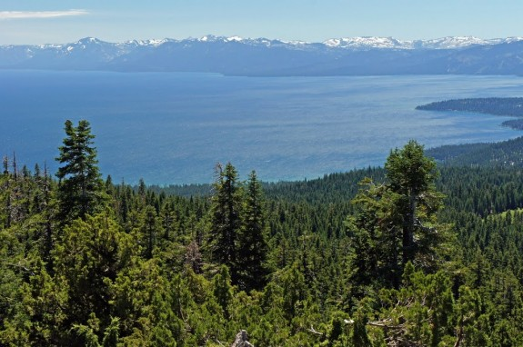 View of Lake Tahoe from the Martis Peak fire lookout