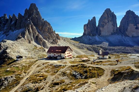 Refugio Locatelli and the Tre Cime di Lavaredo