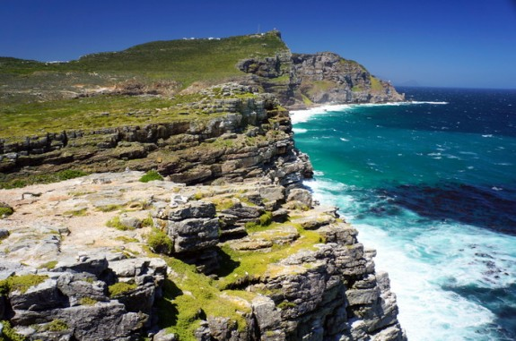 View toward Cape Point from Cape of Good Hope