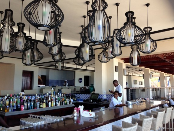 bar at the Pemba Beach Hotel