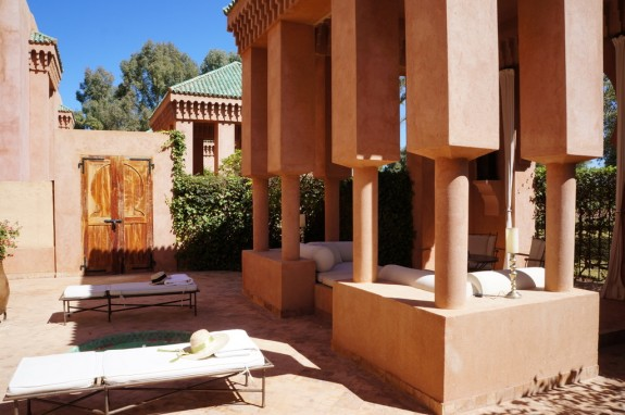 Each villa at Amenjena comes with a private courtyard