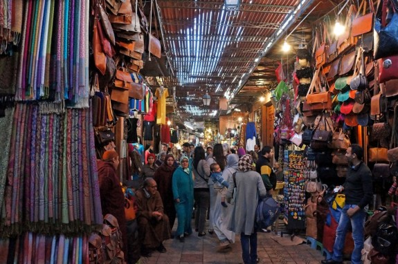 Deep in the souk's passageways