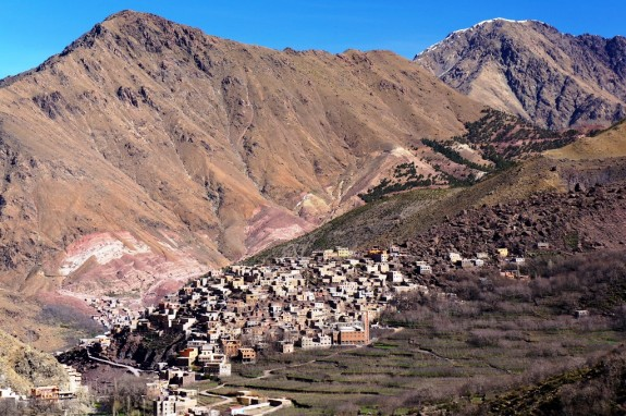 The Berber village of Chamharouch