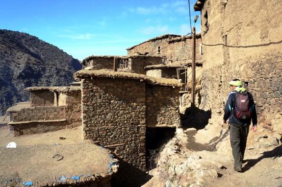 Walking through a Berber village