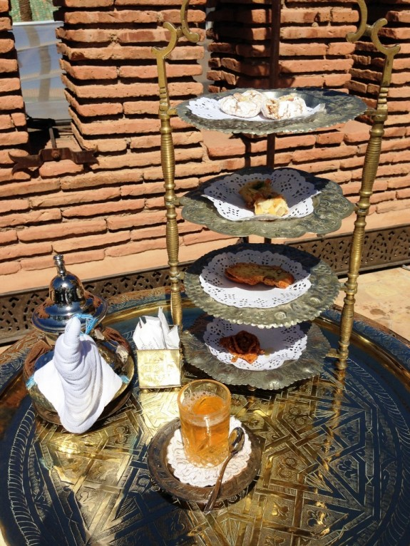 Traditional sweets and tea at La Sultana