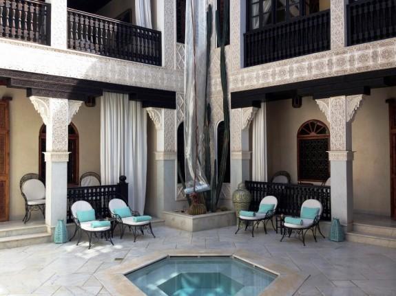 Interior courtyard at La Sultana