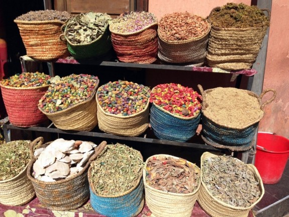 Spices for sale in the kasbah