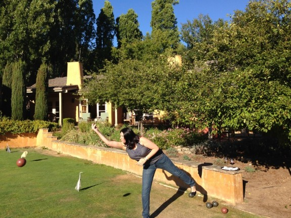 Bocce on the lawn