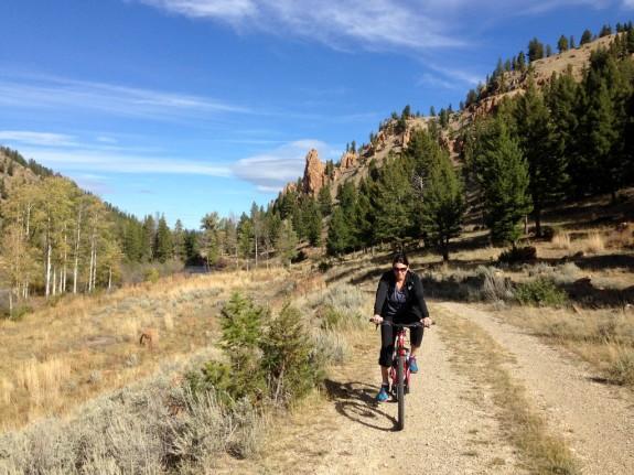 biking along Rock Creek
