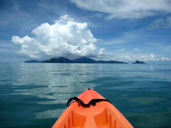 kayaking in the Andaman Sea